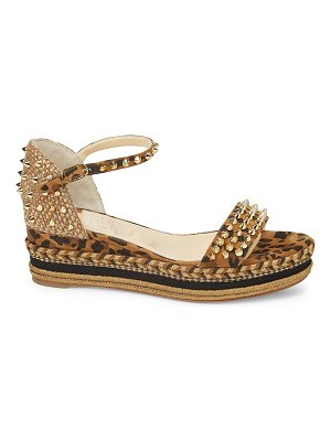 Christian Louboutin madmonica platform leopard-print leather wedge sandals