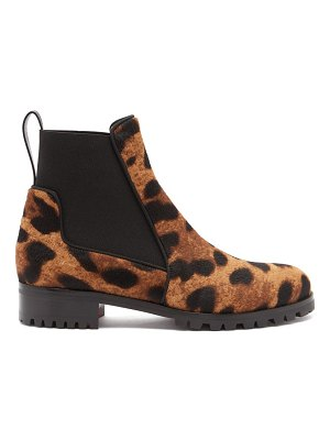 Christian Louboutin marchacroche leopard print calf hair ankle boots