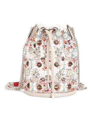 Christian Louboutin marie jane embroidered bucket bag