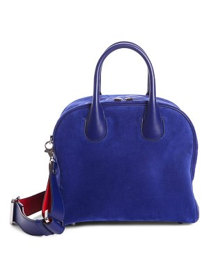 Christian Louboutin marie jane small suede satchel