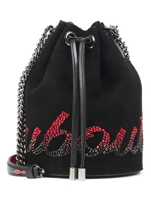 Christian Louboutin marie jane suede bucket bag