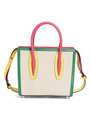 Christian Louboutin mini paloma colorblock satchel