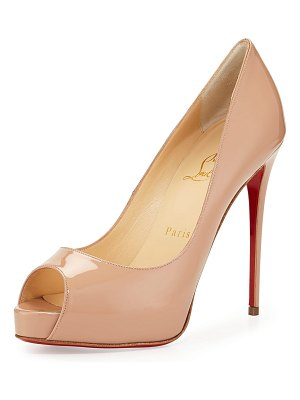 Christian Louboutin New Very Prive Patent Red Sole Pumps