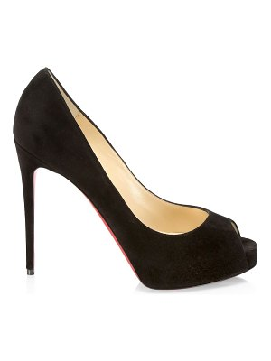 Christian Louboutin new very prive suede peep-toe pumps