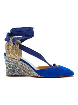 Christian Louboutin noemia 70 suede espadrille wedges