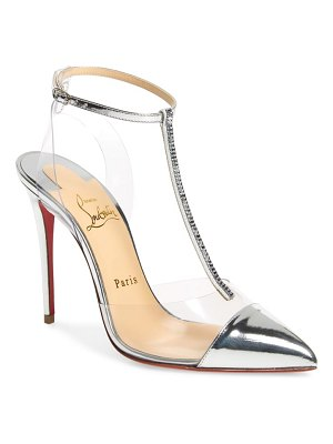 Christian Louboutin nosy crystal embellished t-strap pump
