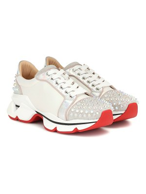 Christian Louboutin orlato studded leather sneakers