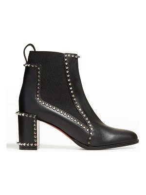 Christian Louboutin Outline Spike Red Sole Ankle Booties