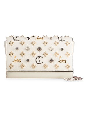 Christian Louboutin Paloma Foldover Embellished Clutch Bag