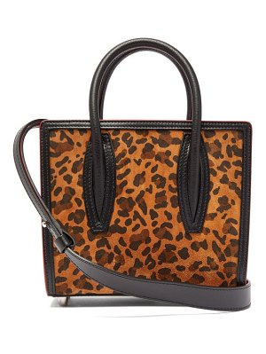 Christian Louboutin paloma leopard print suede tote bag