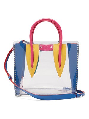 Christian Louboutin paloma medium pvc and leather tote bag