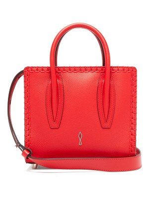 Christian Louboutin paloma suede and leather shoulder bag