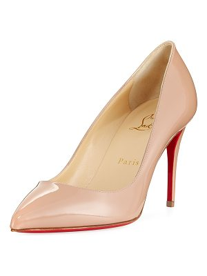 Christian Louboutin Pigalle Follies 85mm Patent Red Sole Pump