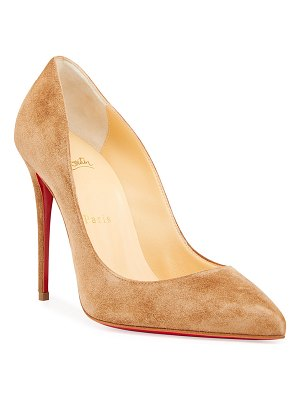 Christian Louboutin Pigalle Follies Suede Red Sole Pumps