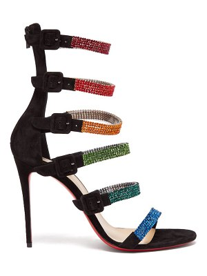Christian Louboutin raynibo 100 crystal embellished suede sandals