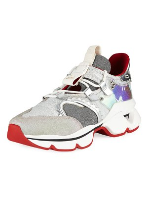 Christian Louboutin Red Runner Donna Flat Red Sole Sneakers