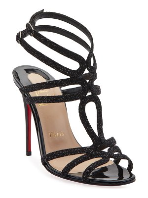 Christian Louboutin Renee Glitter Red Sole Sandals