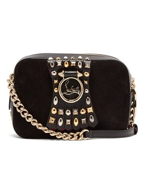Christian Louboutin rubylou embellished leather mini cross body bag