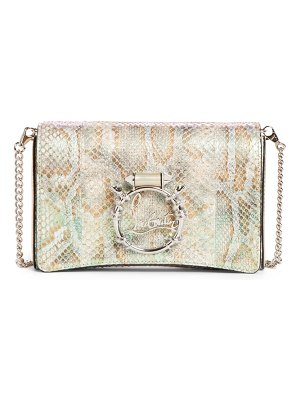 Christian Louboutin rubylou snake embossed leather clutch