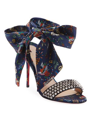 Christian Louboutin Sandale Du Desert Spikes Red Sole Sandals