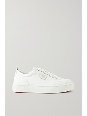 Christian Louboutin simplerui logo-detailed leather-trimmed canvas sneakers