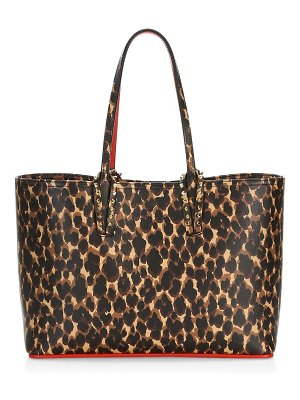 Christian Louboutin small cabata leopard-print leather tote