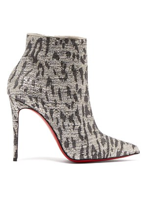Christian Louboutin so kate 100 leopard print ankle boots