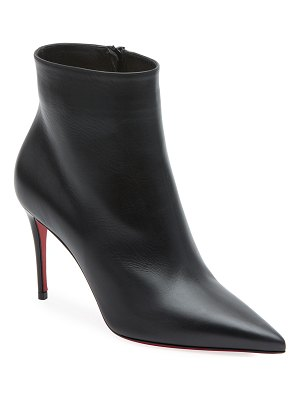 Christian Louboutin So Kate Leather Red Sole Booties