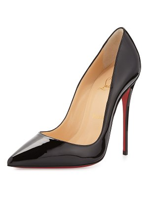 Christian Louboutin So Kate Patent Pointed-Toe Red Sole Pump