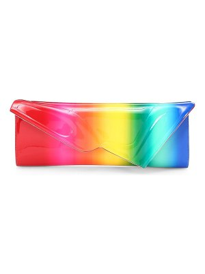 Christian Louboutin so kate rainbow patent leather baguette clutch