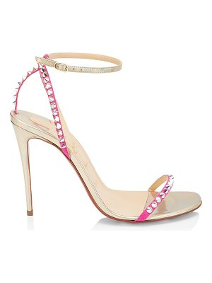 Christian Louboutin so you crystal spike metallic leather sandals