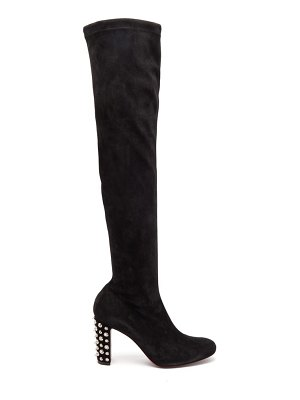 Christian Louboutin study stretch-suede over-the-knee boots