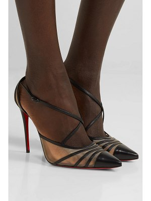 Christian Louboutin theodorella 100 leather and mesh pumps