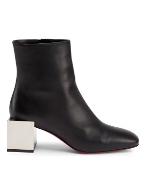 Christian Louboutin tre fiak block-heel leather ankle boots