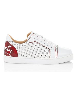 Christian Louboutin vieira perforated leather sneakers