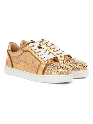 Christian Louboutin vieira spikes embellished leather sneakers