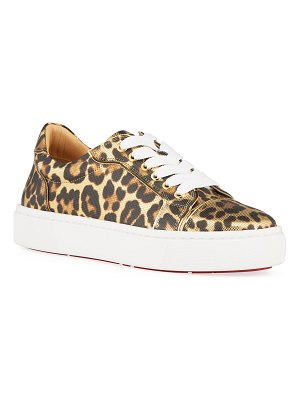 Christian Louboutin Vierissima Leopard Red Sole Sneakers