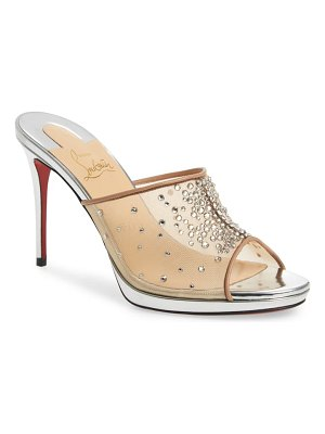 Christian Louboutin violas crystal embellished mule