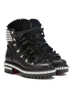 Christian Louboutin yeti donna leather ankle boots