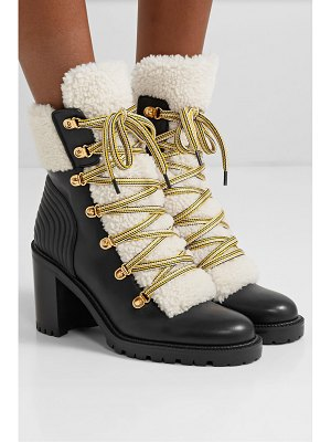 Christian Louboutin yetita 70 shearling-trimmed leather ankle boots