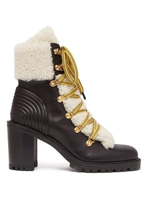 Christian Louboutin yetita shearling-trimmed leather ankle boots
