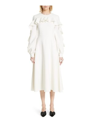 Christian Siriano long sleeve ruffle detail cocktail dress