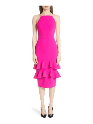 Christian Siriano ruffle trim cocktail dress