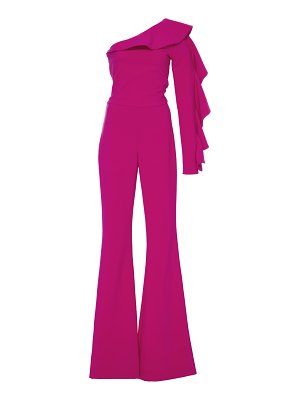 Christian Siriano specialorder-ruffled one shoulder jumpsuit-cz