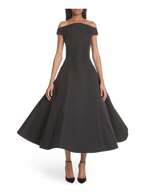 Christian Siriano strapless flare skirt silk cocktail dress