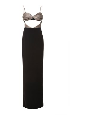Christian Siriano twisted satin & crepe gown