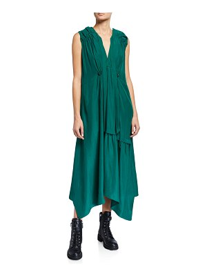 CHRISTIAN WIJNANTS Dican Gathered Asymmetric Dress