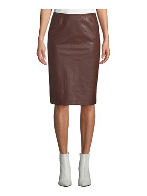CHRISTIAN WIJNANTS Sansul Leather Pencil Skirt