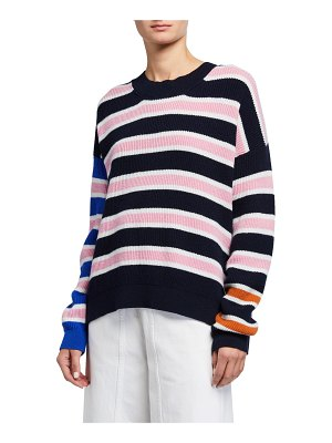CHRISTIAN WIJNANTS Striped Ribbed Raglan Sweater