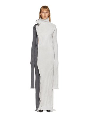Christina Seewald ssense exclusive grey knitted dress